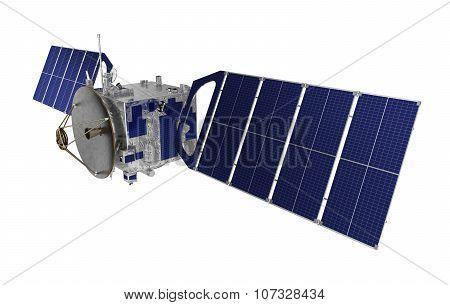 Satellite Over White Background
