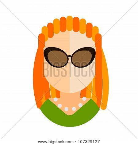 Blonde Woman Flat Icon Avatar