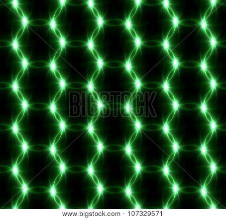 Lens Flare Overlap Green Ring Pattern