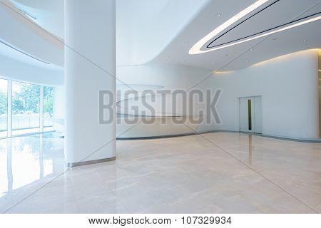 empty modern office building interior