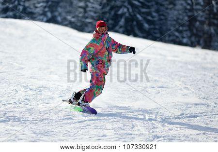 Man Snowboarder