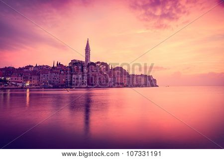 View of Medieval Town Rovinj in Croatia