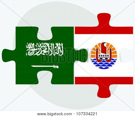 Saudi Arabia And French Polynesia Flags