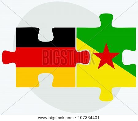 Germany And French Guiana Flags