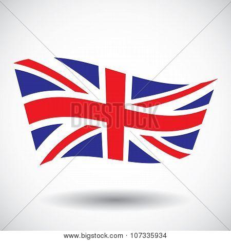 waving flag of England vector