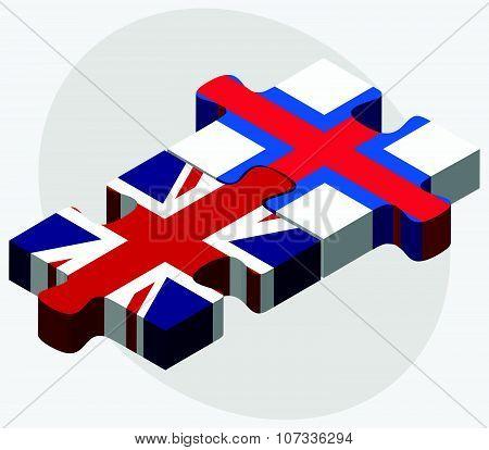 United Kingdom And Faroe Islands Flags