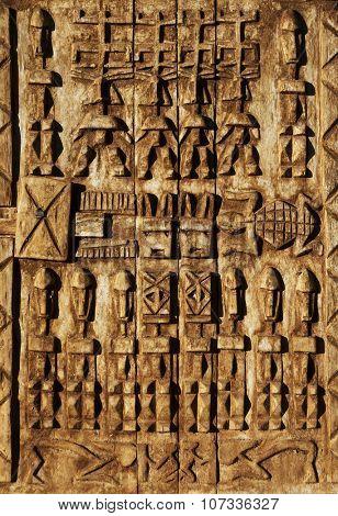 Old berber wooden door