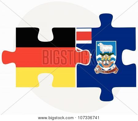 Germany And Falkland Islands Flags