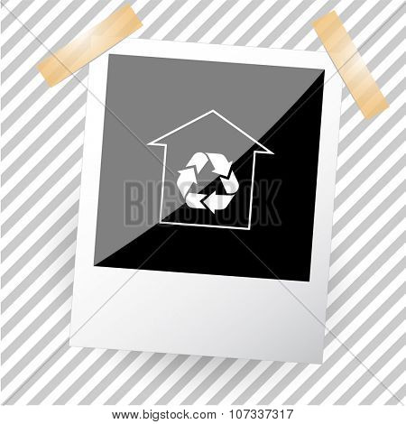 protection of nature. Photoframe. Vector icon.