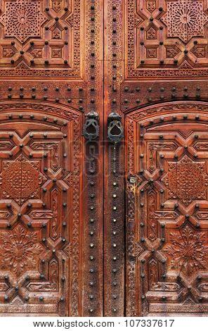 Old door in Marrakech, Morooco, Africa