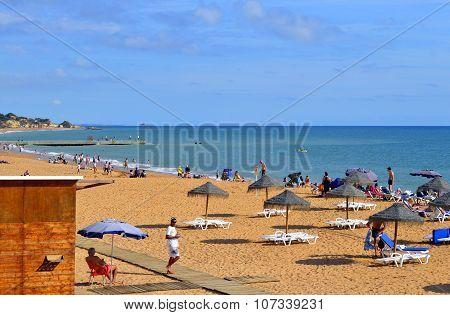 Albufeira Beach on the Algarve