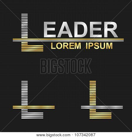 Metallic business font design - letter L