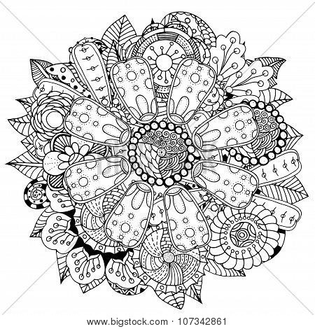 Circle Flower Ornament