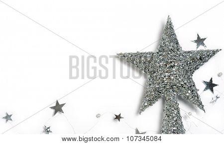 christmas silver stars