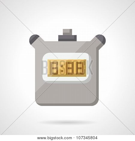 Digital stopwatch flat color vector icon