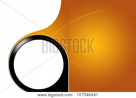 Black Embossed Circle In Front Of Yellow Surface