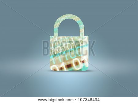 Computer And Digital Data Security Background