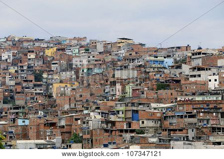 Slum, Neighborhood Of Sao Paulo, Brazil