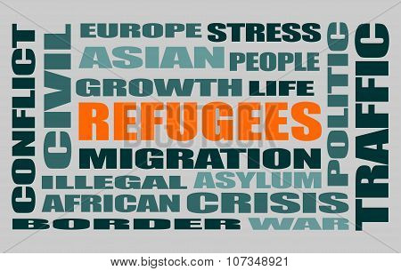 refugees words cloud