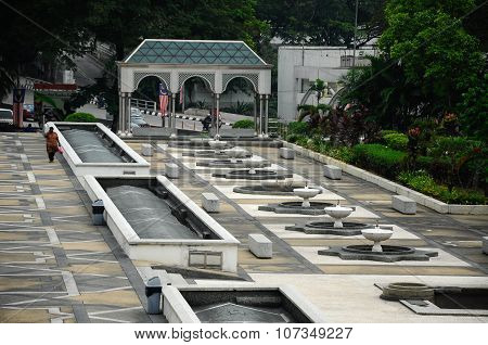 Landscape and garden at Malaysia National Mosque