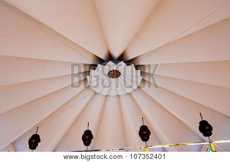 Inside main dome of The National Mosque of Malaysia a.k.a Masjid Negara