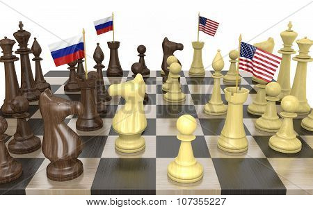 Russia and United States foreign policy strategy and power struggle