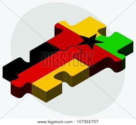 Germany And Guyana Flags
