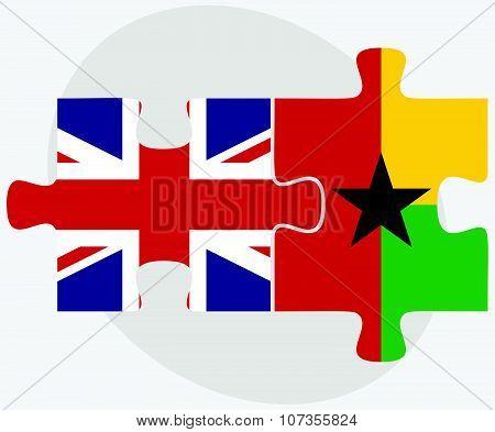 United Kingdom And Guyana Flags