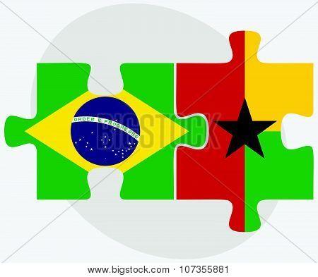 Brazil And Guyana Flags