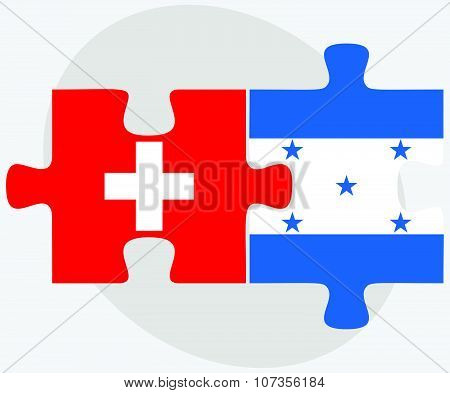 Switzerland And Honduras Flags