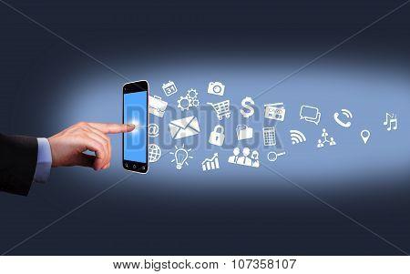Smartphone Modern Communication Technology Concept