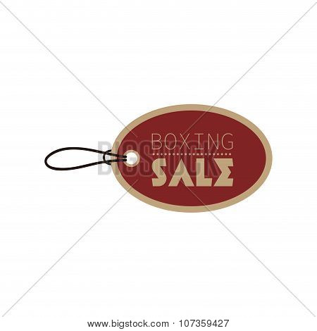 Boxing sale label