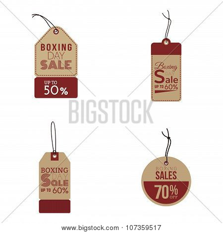 Boxing sale labels