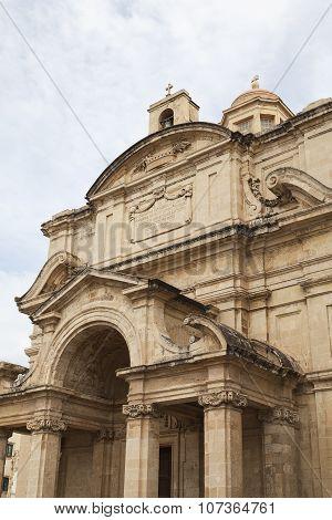 Church Of St Catherine In Capital Of Malta -valletta, Europe