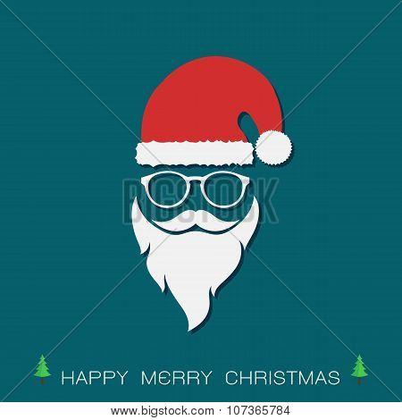Santa Hats And Beards And Eyeglasses