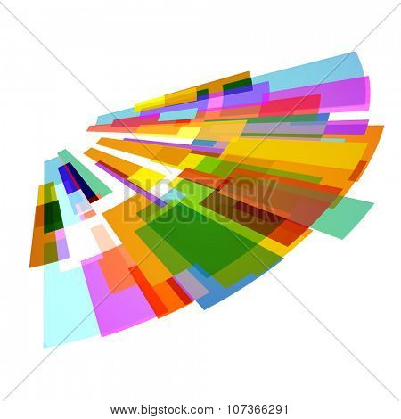 Creative colorful abstract design on white background.