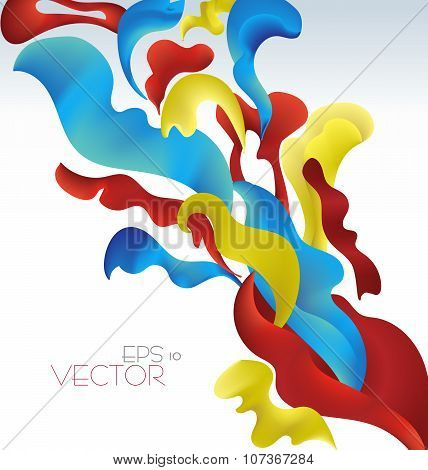 Vetor Modern Abstract Waving Fluid Background