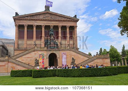 Berlin, Germany - July 25, 2015: Museum Island Which Includes Alte Nationalgalerie (old National Gal