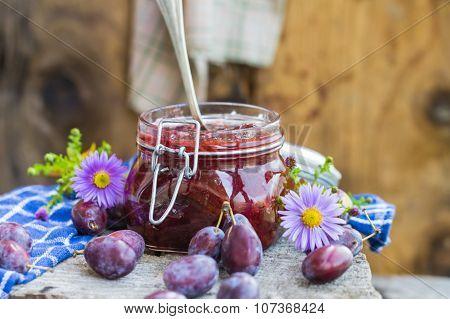 Late Summer Kitchen Jar Plum Jam