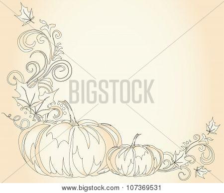 Pumpkins Thanksgiving Border