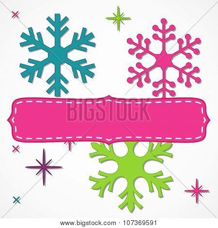 Bright Snowflakes Frame