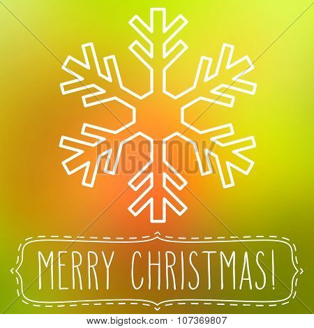 Snowflake And Merry Christmas