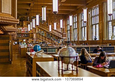 Inside The Library Of The University Of Leuven, Belgium 1