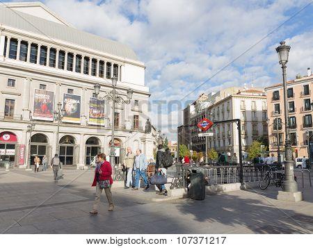 Madrid Metro Station Opera