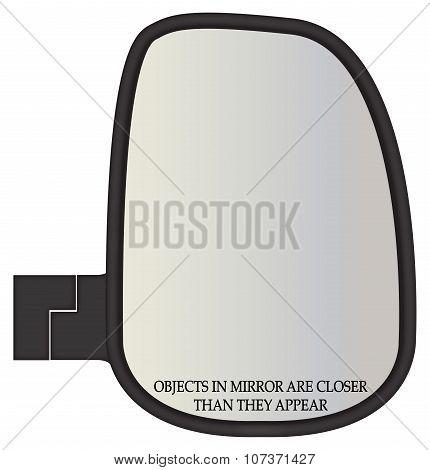 Objects In Truck Side Mirror Closer