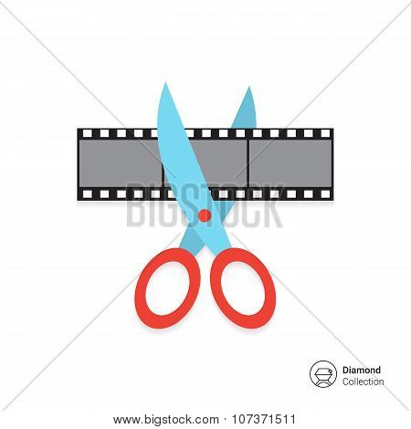 Scissors cutting film