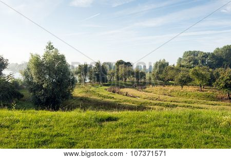 Colorful Dutch Rural Landscape In Summertime