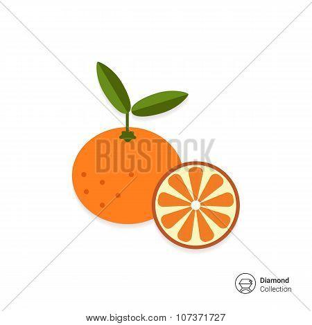 Tangerine and tangerine half