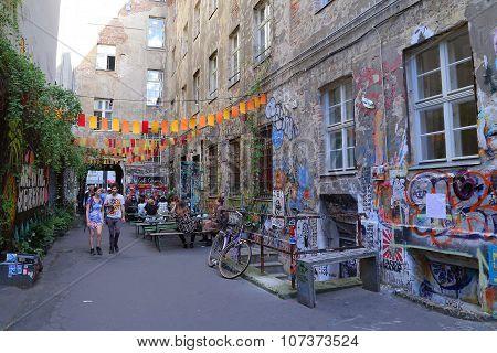 Berlin, Germany - July 26: Street View In Mitte District, On July 26, 2015 In Berlin, Germany.