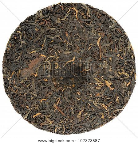 Pressed Red Tea Round Shape Isolated